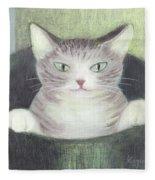 Cat In A Bucket Fleece Blanket