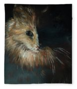Cat In The Shade Fleece Blanket