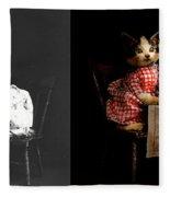 Cat - It's Our Birthday - 1914 - Side By Side Fleece Blanket