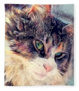 Cat Jasper Fleece Blanket