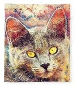 Cat Kiara Fleece Blanket