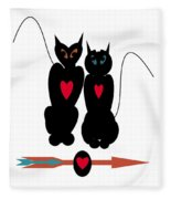 Cat Love Fleece Blanket