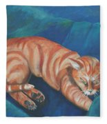 Cat Napping Fleece Blanket