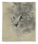 Cat, Nikita Il Gatto. Fleece Blanket