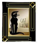 Cat Show - Frame 5 Fleece Blanket