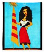 Catalan Lady / La Ramona Fleece Blanket