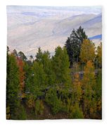 Catalina Mountains In The Fall Fleece Blanket
