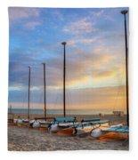 Catamarans In The Sun Fleece Blanket