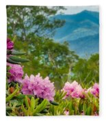 Catawba Rhododendron At The Craggy Fleece Blanket