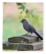 Catbird Calling Fleece Blanket
