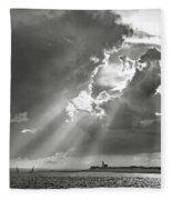 Catboats Sailing In Barnstable Harbor Fleece Blanket