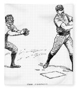 Catcher & Batter, 1889 Fleece Blanket
