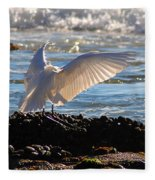 Catching Rays At The Beach Fleece Blanket