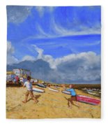 Catching The Ball, St Ives Fleece Blanket