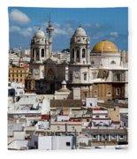 Catedral De Cadiz Fleece Blanket