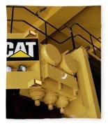 Caterpillar 797f Mining Truck 02 Fleece Blanket