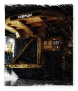 Caterpillar 797f Mining Truck Pa  Fleece Blanket