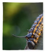 Macro -caterpillar Fleece Blanket