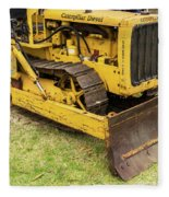 Caterpillar D2 Bulldozer 01 Fleece Blanket