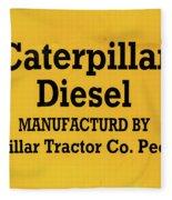 Caterpillar D2 Bulldozer 08 Fleece Blanket