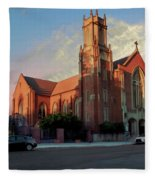 Cathedral At Dawn Fleece Blanket