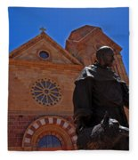 Cathedral Basilica In Santa Fe Fleece Blanket