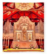 Cathedral Basilica Of St. Augustine Fleece Blanket