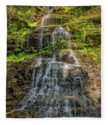 Cathedral Falls 3 Fleece Blanket