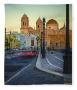 Cathedral From Campo Del Sur Cadiz Spain Fleece Blanket