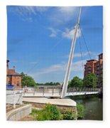 Cathedral Green Bridge At Derby Fleece Blanket