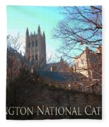 Cathedral In The Fall Travel Fleece Blanket