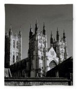 Cathedral Of Canterbury Fleece Blanket