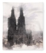 Cathedral Of Cologne Fleece Blanket