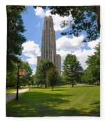 Cathedral Of Learning University Of Pittsburgh Fleece Blanket