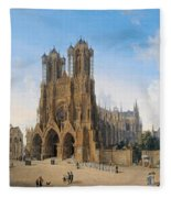 Cathedral Of Notre-dame At Reims Fleece Blanket