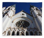 Cathedral Of St John The Babtist In Savannah Fleece Blanket