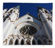 Cathedral Of St John The Babtist In Savannah Fleece Blanket