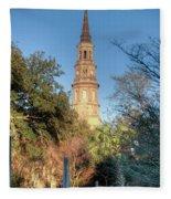 Cathedral Of St. John The Baptist Fleece Blanket