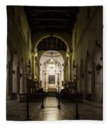 Cathedral Of Syracuse - Duomo Di Siracusa - An Ancient 2500 Years Old Greek Temple Fleece Blanket