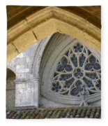 Cathedral On The Saint James Path  Fleece Blanket