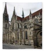 Cathedral Regensburg Fleece Blanket