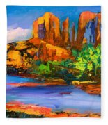 Cathedral Rock Afternoon Fleece Blanket