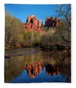 Cathedral Rock Reflection In Oak Creek Fleece Blanket