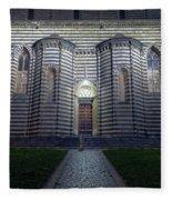 Cathedral Side Door Orvieto Italy Fleece Blanket
