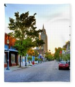 Cathedral Square Gallery On Dauphin Street Mobile Fleece Blanket