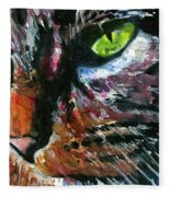 Cats Eyes 11 Fleece Blanket