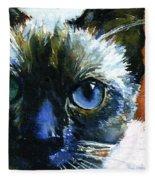 Cats Eyes 13 Fleece Blanket