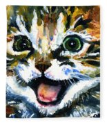 Cats Eyes 15 Fleece Blanket