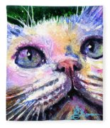 Cats Eyes 2 Fleece Blanket