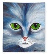 Cat Eyes Blue Fleece Blanket
